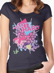 Pinkie Pie & Twilight Sparkle - Party Hard Women's Fitted Scoop T-Shirt