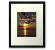 First Sunset 2013 - Primera Puesta Del Sol 2013 Framed Print