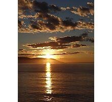 First Sunset 2013 - Primera Puesta Del Sol 2013 Photographic Print