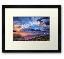Confused Sunrise Framed Print