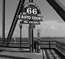 Route 66 - Chain of Rocks Bridge and Gas Pump by Frank Romeo