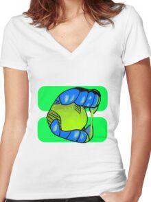 Blehhhhhhh Women's Fitted V-Neck T-Shirt