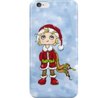 girl with snowflakes iPhone Case/Skin