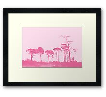 Forest Trees in Pink Framed Print