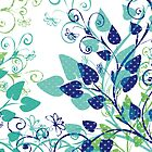 Floral Spring Blue by silvianeto
