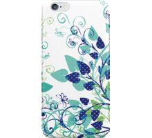Floral Spring Blue iPhone Case/Skin