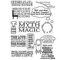 Merlin Quotes Photographic Print