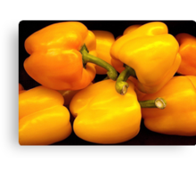 Perfect Yellow Peppers Canvas Print