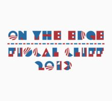 U.S. FISCAL CLIFF 2013 T-shirt  by ethnographics