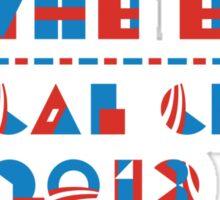 U.S. FISCAL CLIFF 2013 T-shirt  Sticker