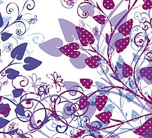 Floral Spring Violet by silvianeto