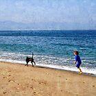 Boy at the Beach by Karmyn Tyler Cobb
