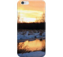 Sunset at the River iPhone Case/Skin