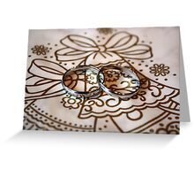 Wedding Rings on Bell Greeting Card