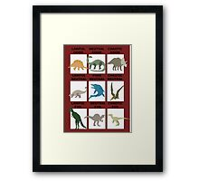 Dinosaurs alignment Framed Print