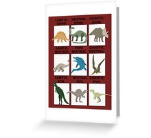 Dinosaurs alignment Greeting Card