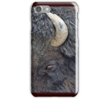 Close up of a bison iPhone Case/Skin