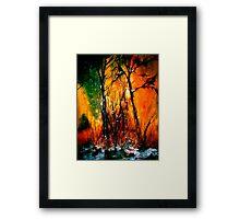 Heart of Fire Framed Print