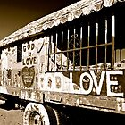"Salvation Mountain ""GOD LOVE""  B&W California  by Jessica Karran"