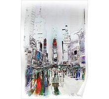 Rain In Times Square Poster