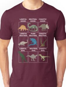 Dinosaurs alignment Unisex T-Shirt