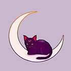 Luna, the cat from sailor moon by Destiny Nowicki
