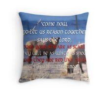 White as Snow-Isa 1:18 Throw Pillow