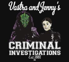 Vastra and Jenny's Criminal Investigations-White Kids Clothes