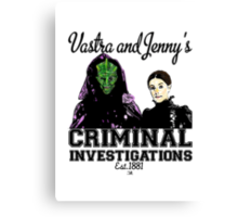 Vastra and Jenny's Criminal Investigations Canvas Print