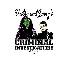 Vastra and Jenny's Criminal Investigations Photographic Print
