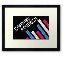 """Retro Superheroes """"Captain America"""" Framed Print"""