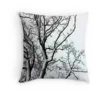 Oak in black and white Throw Pillow