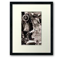 Capture of the Car Thief. Framed Print