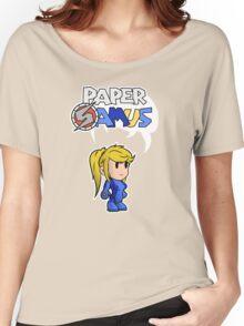Paper Samus (Zero Suit Ver.) Women's Relaxed Fit T-Shirt