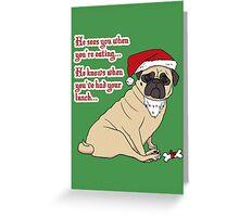 Santa Pug The Christmas Pug Greeting Card