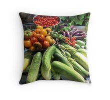 Vegetable Abbondanza! Throw Pillow