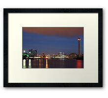 Glasgow Pacific Quay at Night Framed Print
