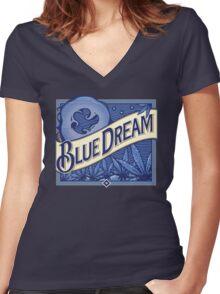 Blue Dream Women's Fitted V-Neck T-Shirt
