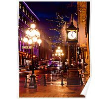 Vancouver's Steam Clock Poster