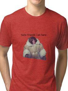 hello friends i am here: ikea monkey Tri-blend T-Shirt