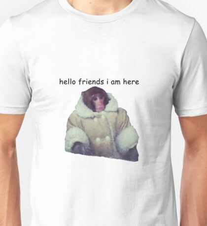hello friends i am here: ikea monkey Unisex T-Shirt