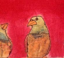 3 Birds Sticker