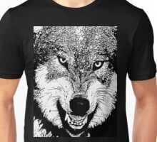 14 Angry Wolf By Chris McCabe - DRAGAN GRAFIX Unisex T-Shirt