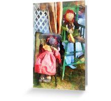 Two Rag Dolls at Flea Market Greeting Card