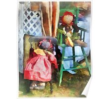 Two Rag Dolls at Flea Market Poster