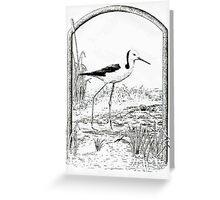 book plate design Greeting Card