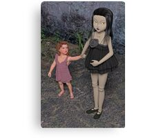 The Doll and Her Child Canvas Print