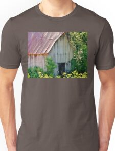 Delicately Faded Old Barn Unisex T-Shirt
