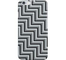 Stripy steps in Grey iPhone Case/Skin