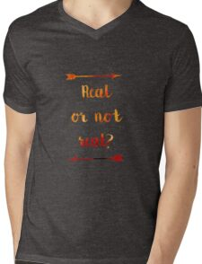 Real or not Real? Real Mens V-Neck T-Shirt